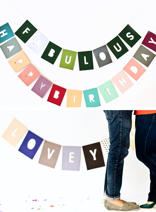 Negative Type Party Garland