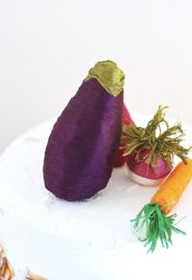 veggie thread cake toppers