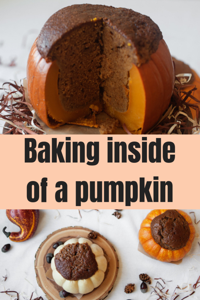 Baking inside of a pumpkin