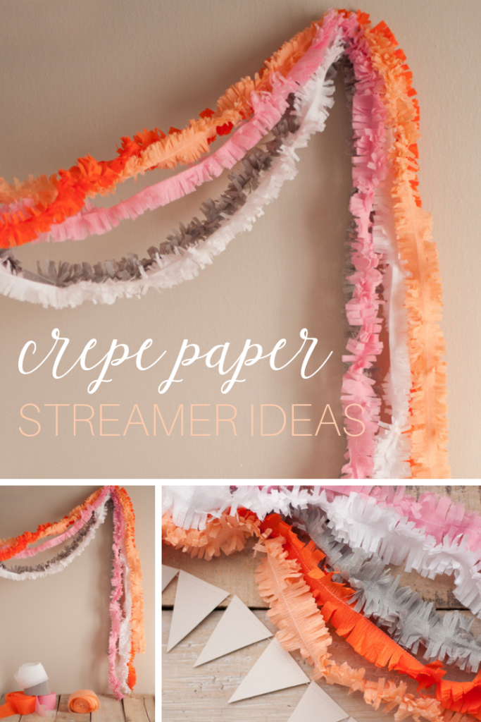 crepe paper streamers ideas