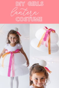 DIY girls lantern costume