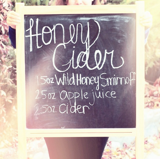 chalkboard drink recipes