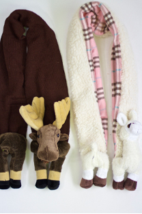 diy animal scarfs