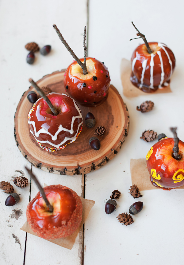 painted caramel apples
