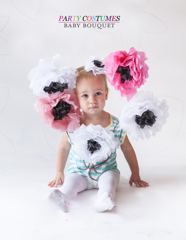 DIY Baby Bouquet Halloween Costume