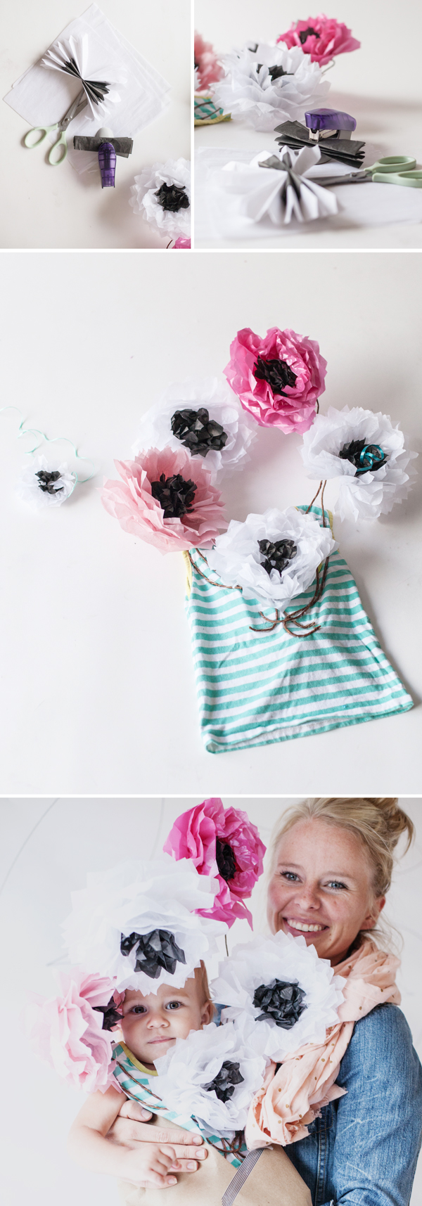 DIY Flower Bouquet Costume for Baby Instructions