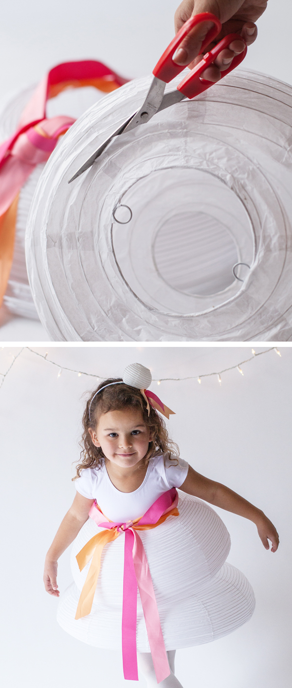 how to make a girls lantern halloween costume