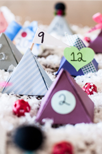 printable pyramid advent calendar