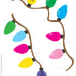 light garland christmas party invitations