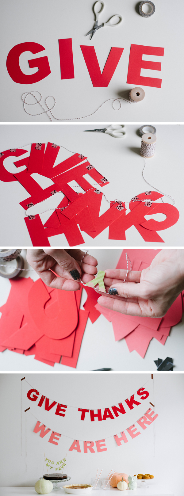 The Easiest Letter Garland