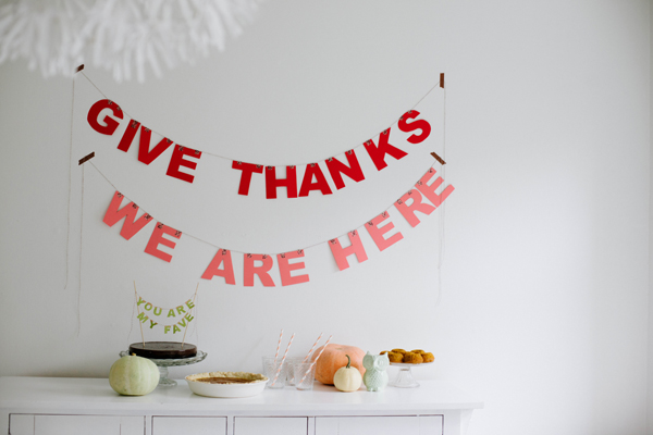 Thanksgiving Paper Letter Garland