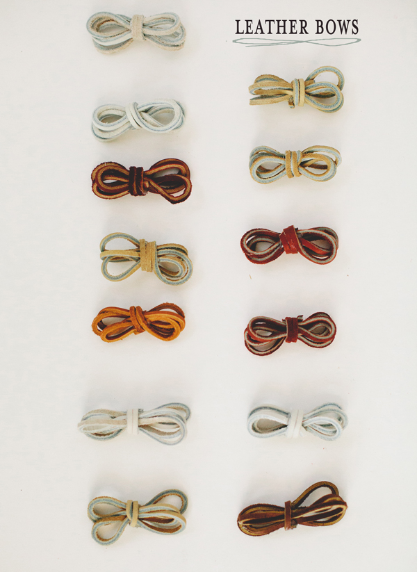 leather bow drawer pulls