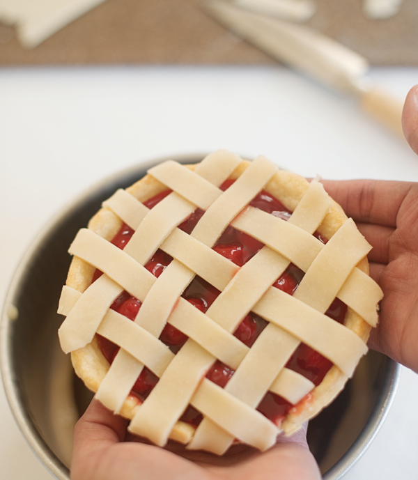 Bake a pie in a cake! Simple, amazing recipe at A Subtle Revelry