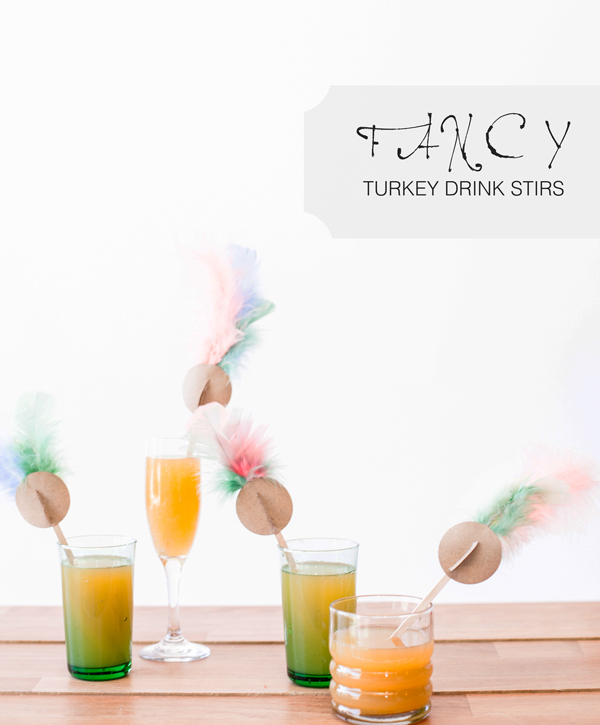 Fancy Turkey Drink Stirs | A Subtle Revelry