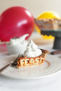 typography pie + thanksgiving treats