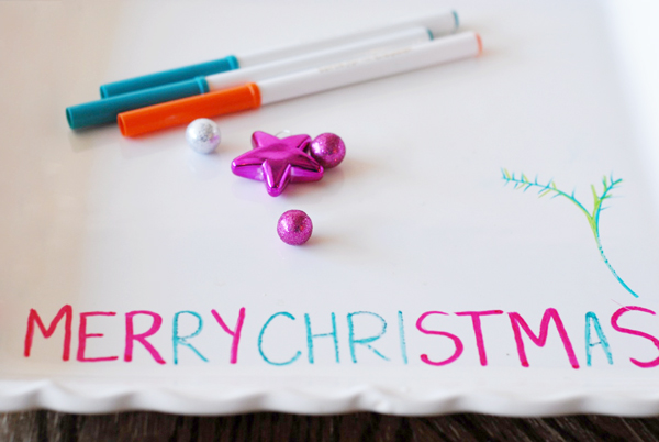 Holiday Office Party Hacks | Write On Dishes With Markers For Holiday Food Spread