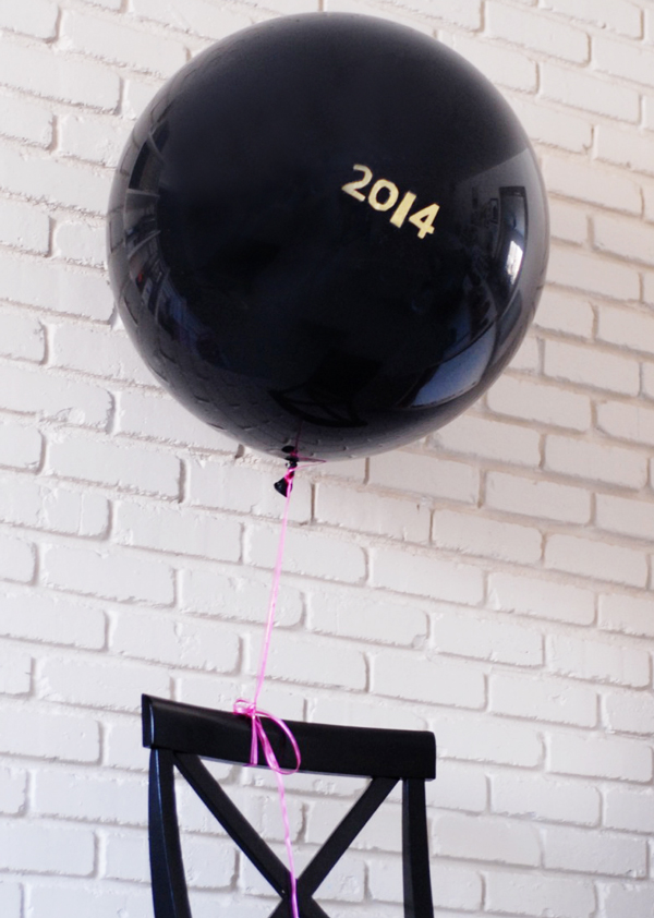 New Years Eve Party Hacks - 2014 Etched Balloon