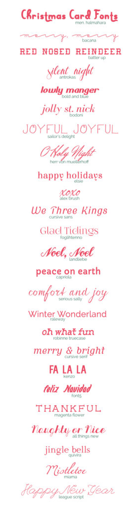 Christmas Fonts.25 Free Christmas Card Fonts A Subtle Revelry