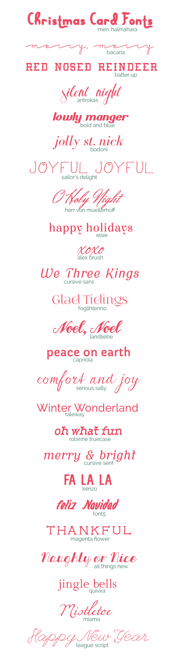25 free christmas card fonts - Christmas Fonts Free