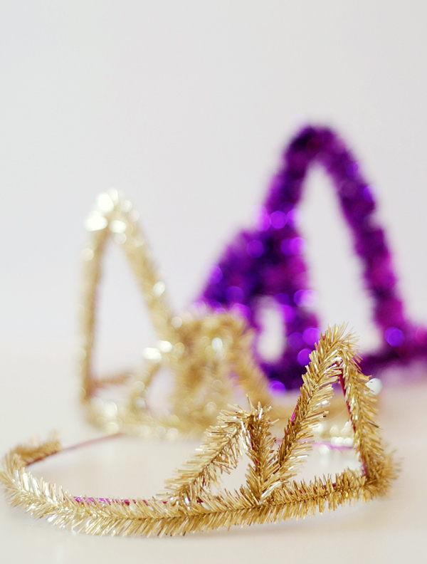 New Years Eve Party Hacks - Tinsel Party Crowns