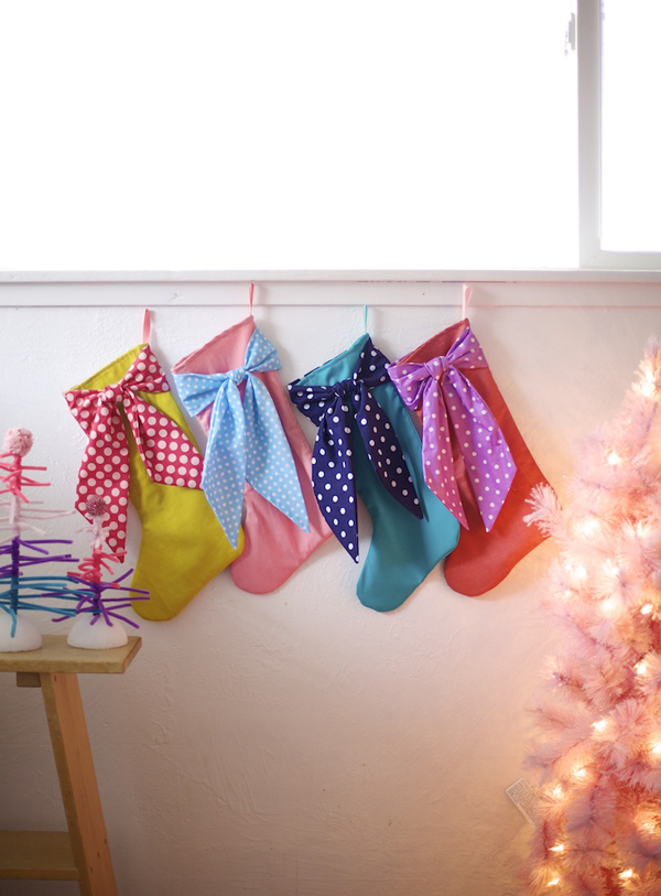 Big Bow DIY Stockings >> A Subtle Revelry