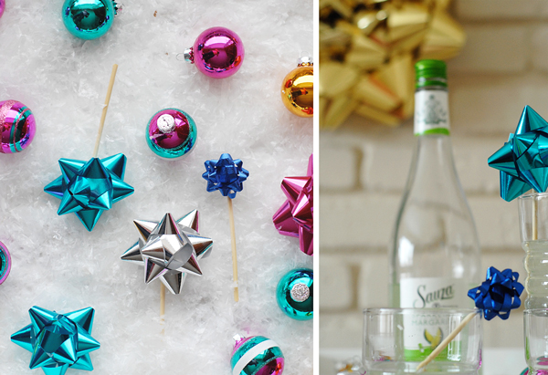 DIY Bow Flower Drink Stirs >> A Subtle Revelry