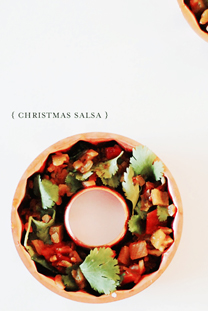 christmas salsa wreaths