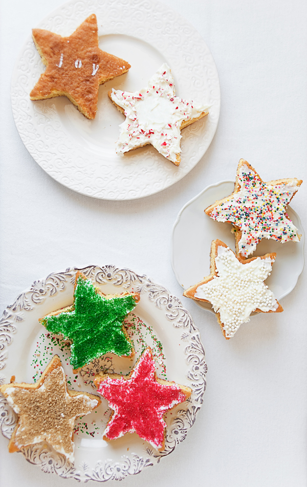 Christmas mini-star cakes