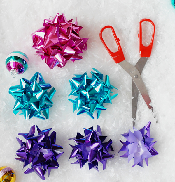 DIY Bow Flower Gift Topper >> A Subtle Revelry