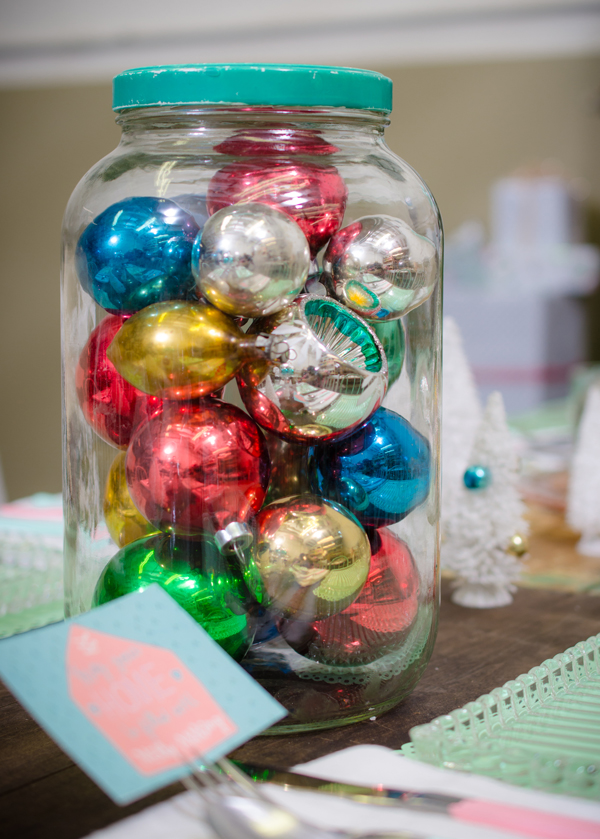ornaments in a jar