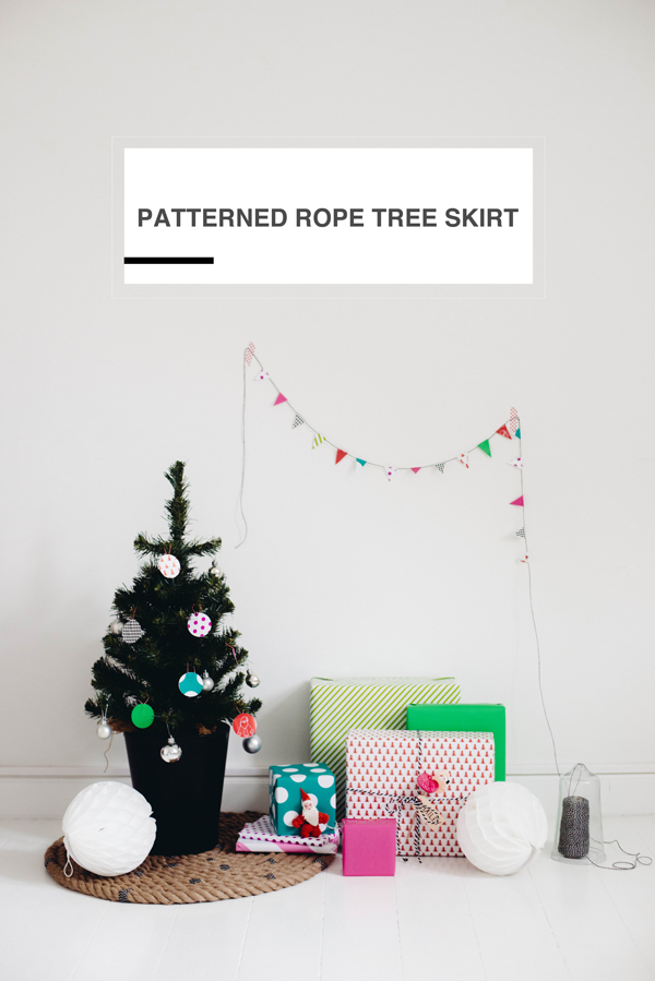 Patterned Rope Tree Skirt >> A Subtle Revelry