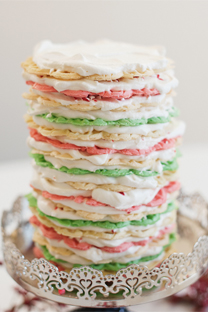 colorful pizelle cake
