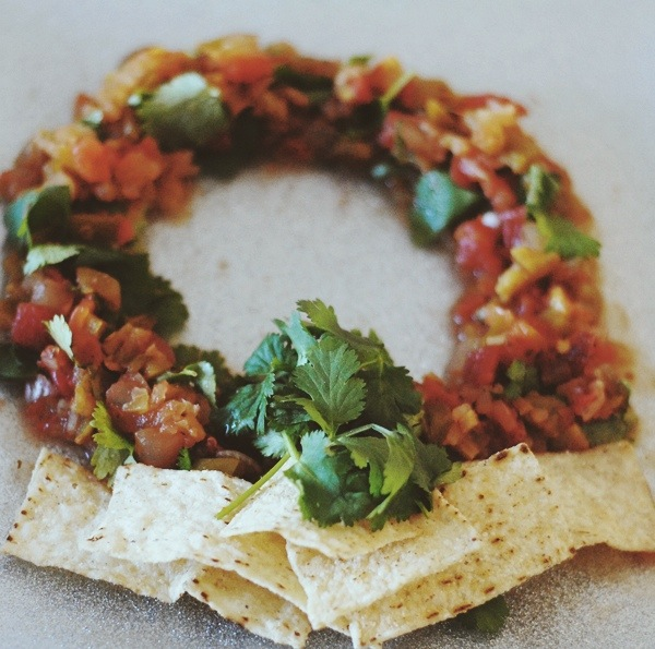 Christmas Salsa Wreath