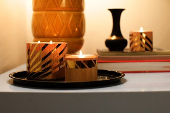13 bright candle ideas - metallic and wood