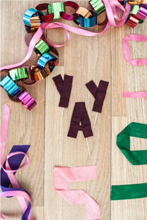 typography stiffened ribbons