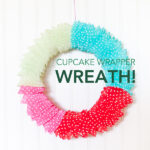 cupcake wrapper wreath