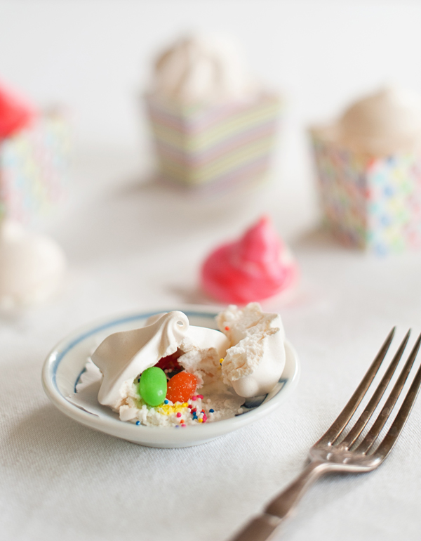 pinata meringues - so sweet and filled with treats!