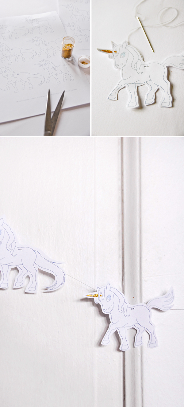 Printable Unicorn Garland