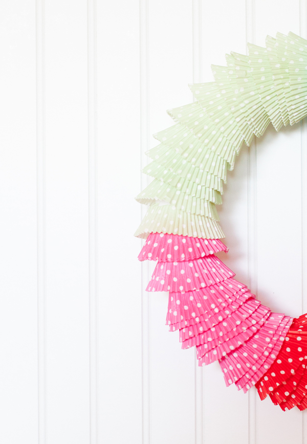 DIY cupcake wrapper wreath | A Subtle Revelry