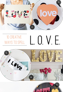 10 ways to spell love