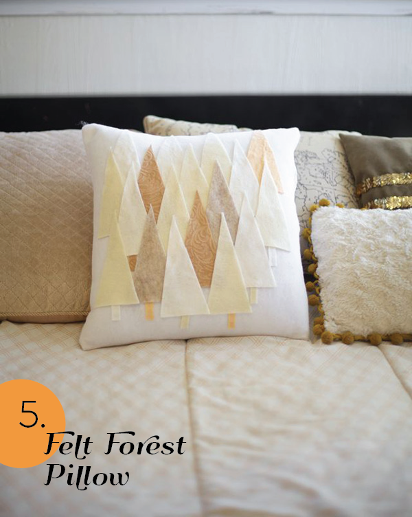 25 Genius Ideas for Spring - Forest Pillow by Ruffles and Stuff