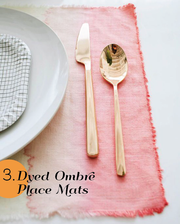25 Genius Ideas for Spring - Ombre Placemats by Design Love Fest
