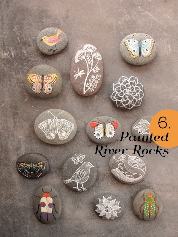 25 Genius Ideas for Spring - Painted Rocks by Gennine