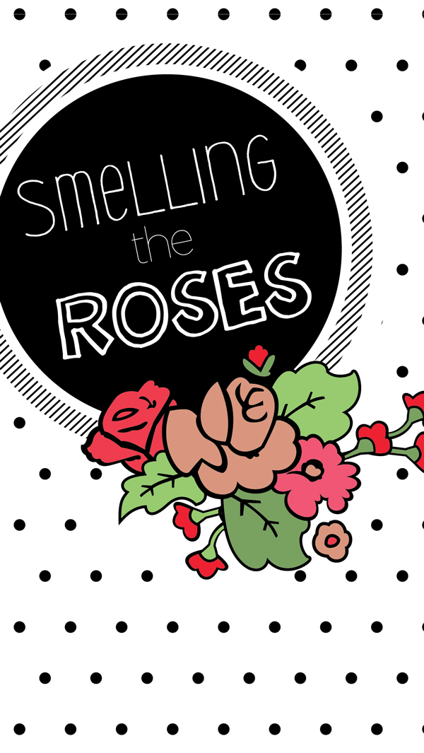 Smelling the roses screen saver