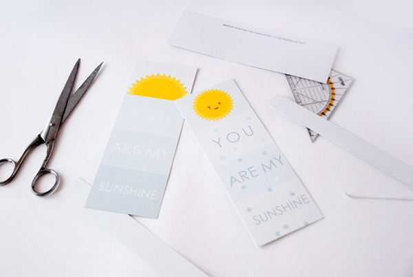 You are my sunshine - printable Valentines