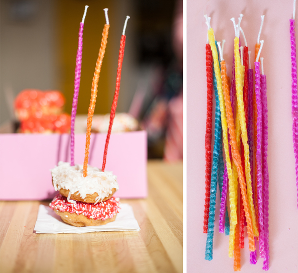 homemade rolled candles