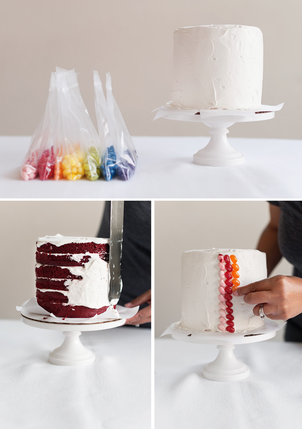 How to make a Jelly Bean Layer Cake
