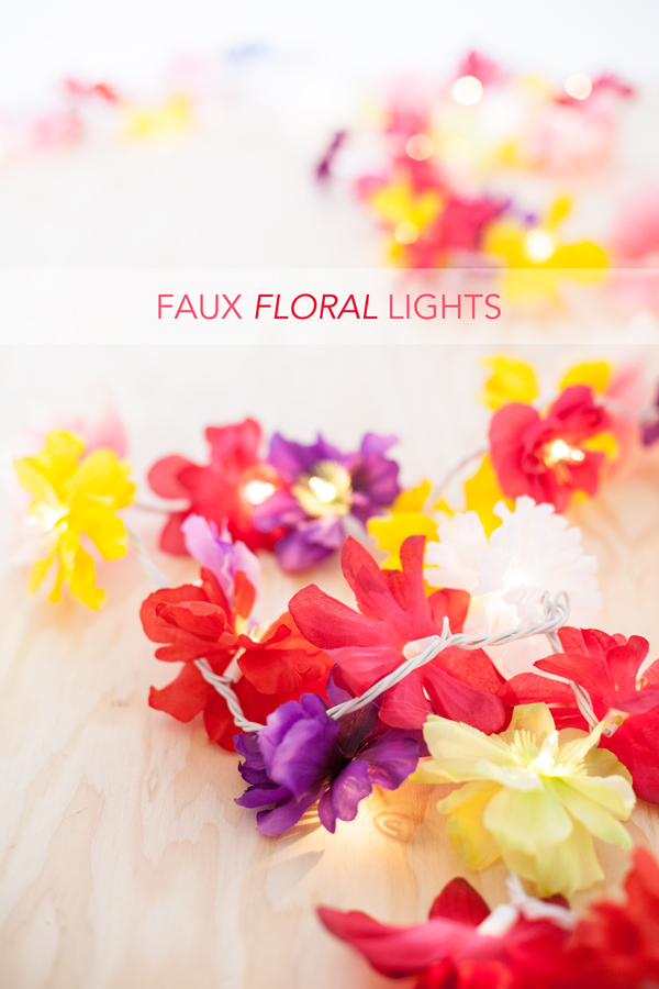 faux floral lights