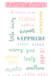 brilliantly free floral fonts