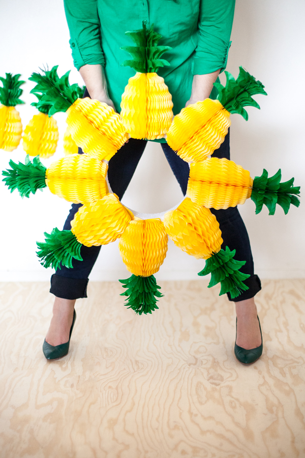 pineapple honeycomb wreath